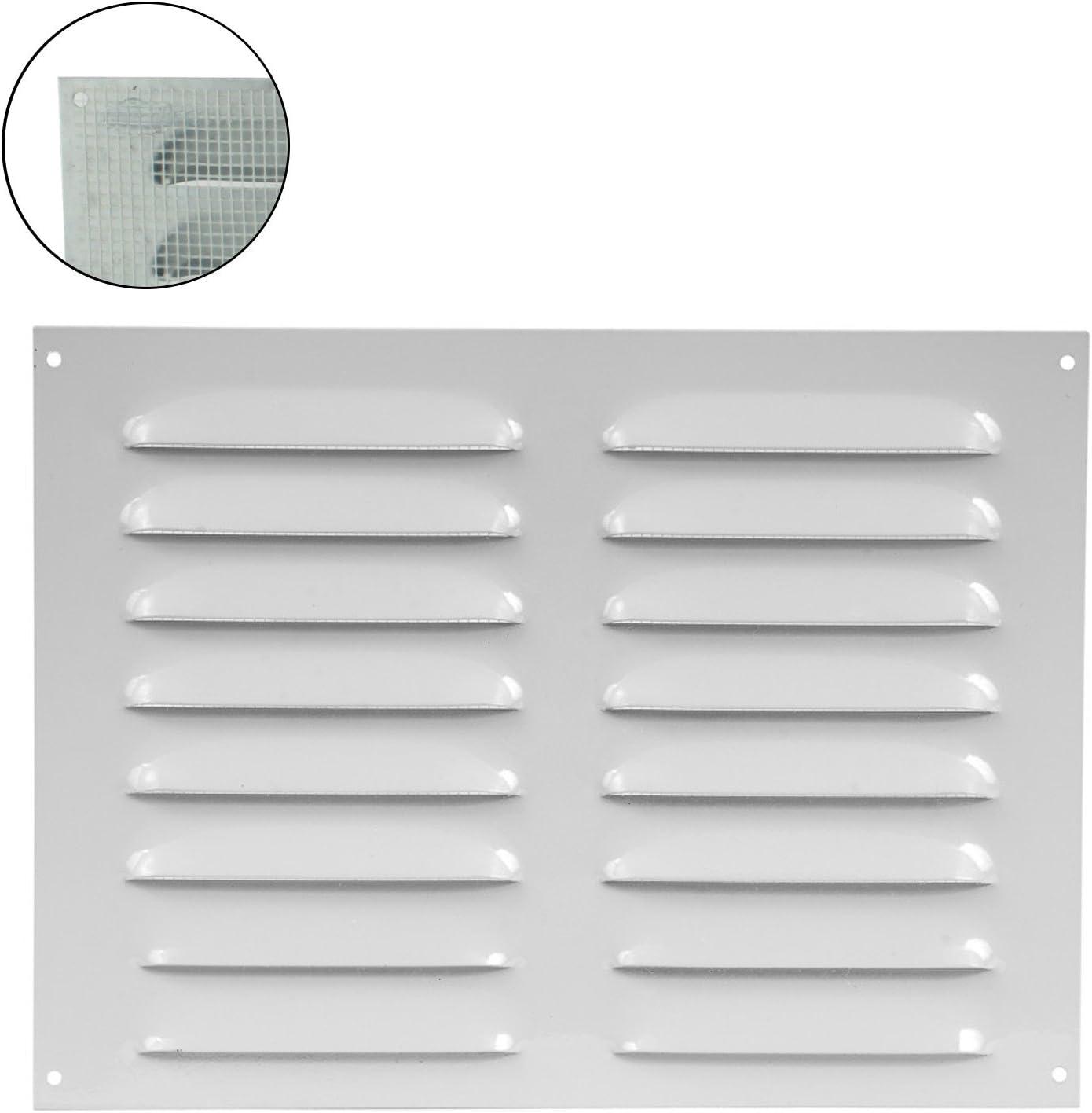 MKK/ Blanco /18527/ /Rejilla de ventilaci/ón rejilla de pared cierre metal Canalizado zufluft Mosquitera