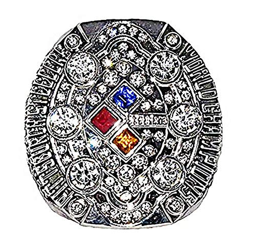 - 2008 Pittsburgh Steelers Super Bowl NFL Football World Championship Rings (Silver)