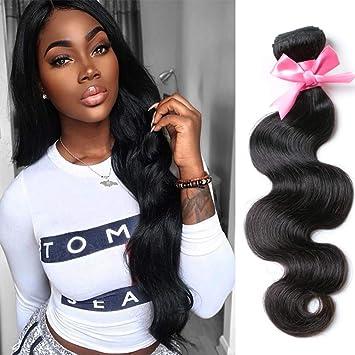 f54401b2a Brazilian Virgin Hair Body Wave 1 bundle Brazilian Body Wave 100% Virgin  Human Hair Weaves