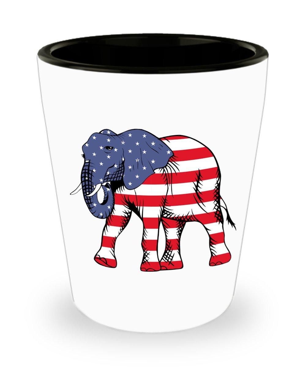 GOP Shot Glass - Republican Elephant