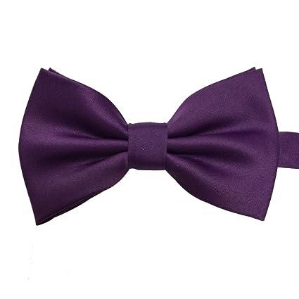6277a9e2aef1 Mens Formal Pre-tied Banded Bow Tie Bowtie (Dark Purple): Amazon.ca:  Luggage & Bags