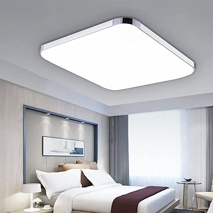 24w led ceiling light 39x39x9cm ultra thin modern silver cool white super bright square lamp for living room bathroom bedroom dining room amazon co uk