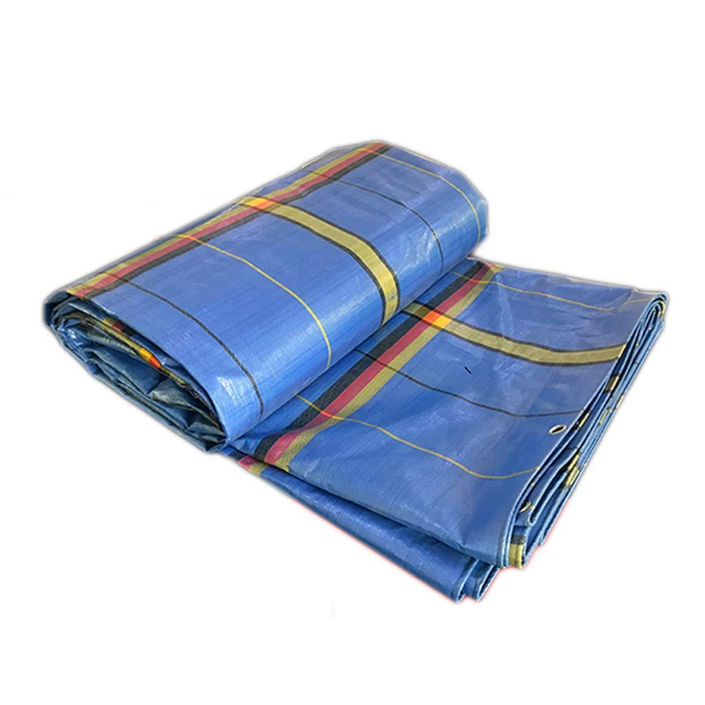 Leichte Wasserdichte Plastikplane, Starke Sonnenschutzmittel-Sonnenschutz-Haushalts-regendichte Plane, Blau, 2  2 Meter