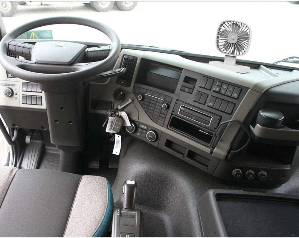 Color : Black2 Packs Weastion Car Fan Small Fan Car Big Truck Van Strong Electric Fan Cool Tool Best Gift of Summer Portable Fan Office Fan Home Fan