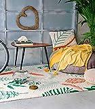 Lorena Canals botanico piante lavabile tappeto, cotone, multicolore, 140x 200x 30cm