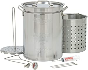 Bayou Classic 1118 32-Quart Stainless Steel Turkey Fryer