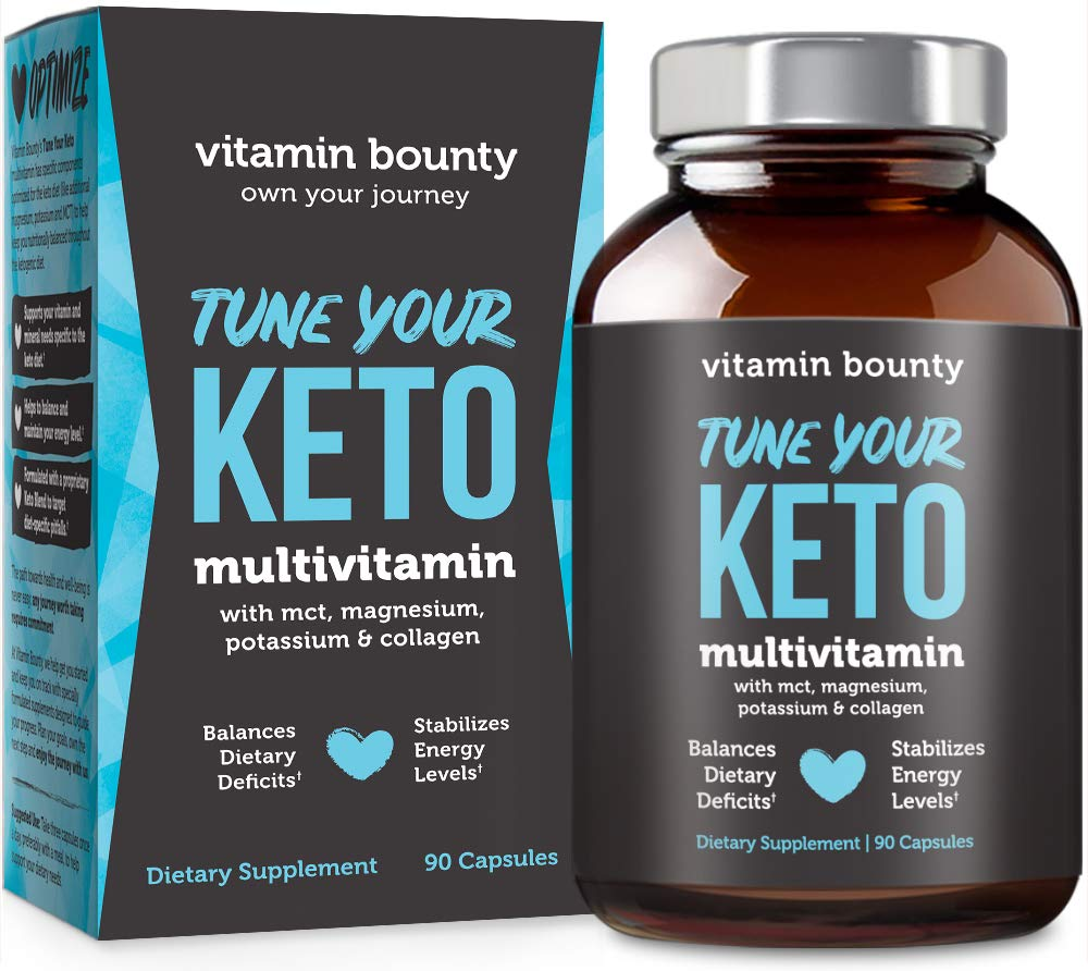 Tune Your Keto - Ketogenic Multivitamin + Electrolytes with MCT, Collagen, Magnesium and Potassium by Vitamin Bounty