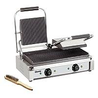 Elektrogrill silber kleiner Electro Grill Balkon ✔ eckig ✔ Grillen mit Elektrogrill ✔ für den Tisch