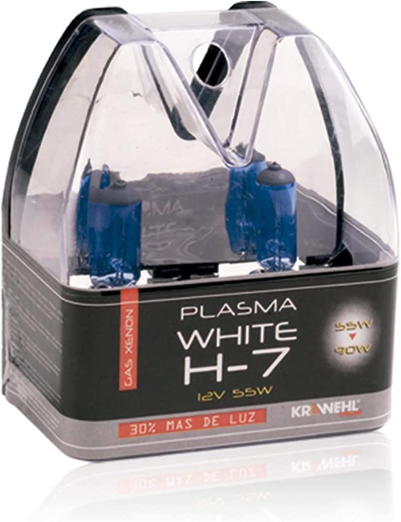 Estuche de 2 l/ámparas para faros hal/ógenos KRAWEHL PLASMA WHITE H-7-7009.0001164