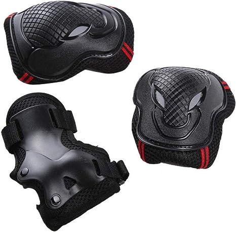 coderas y mu/ñequeras ajustables Speedsporting Juego de rodilleras 6 en 1 para ni/ños y adultos patinaje con rodilleras equipo de protecci/ón