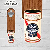Wall Mounted Bottle Opener with Vintage Pabst Blue Ribbon Beer Can Cap Catcher Review