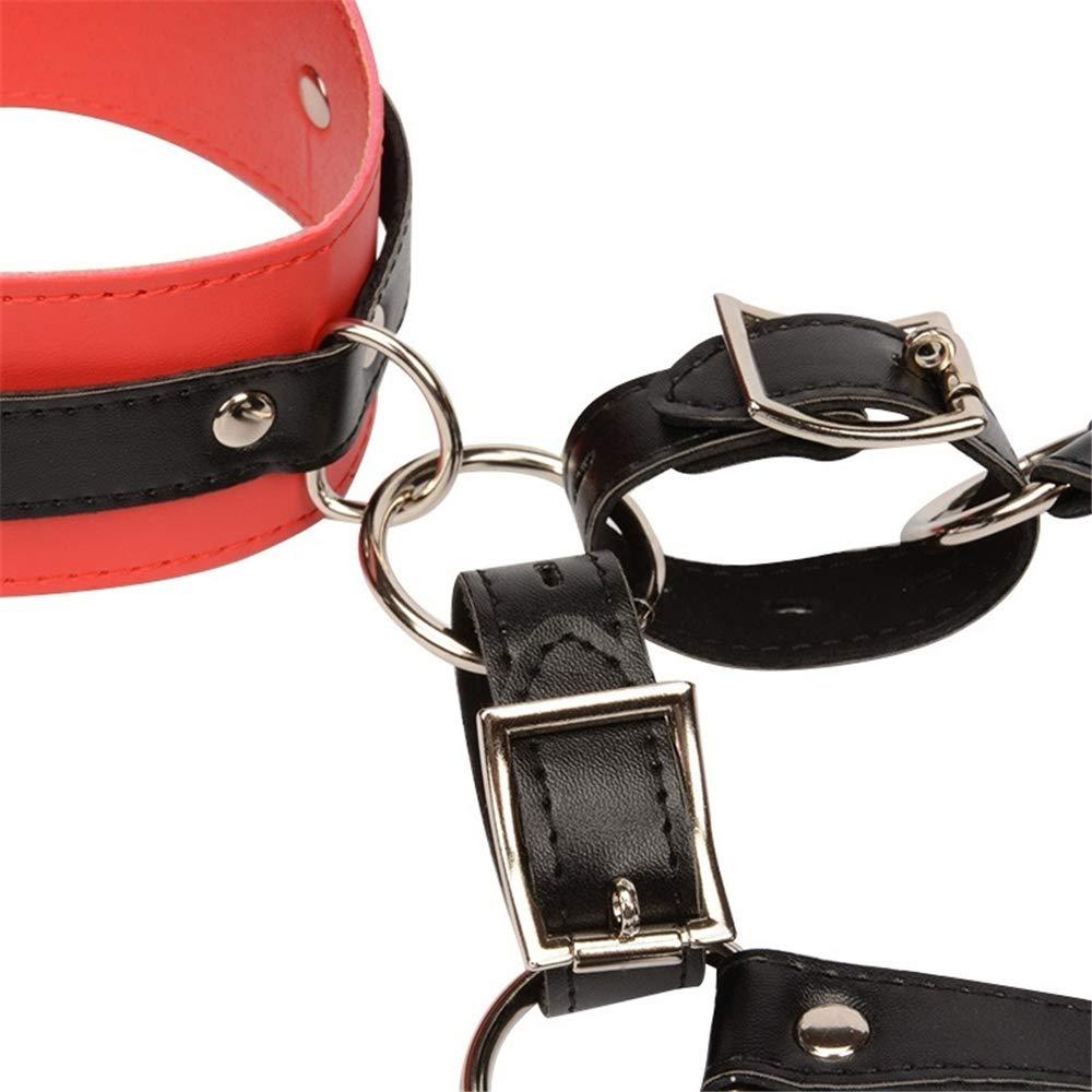BUG-L Bondage Kit SM Sujetador de Collar Collar de de Cuero con Cierre Cuello con moderación de Cuero Sexy Sujetador Bondage arnés de Pecho Juguete del Sexo c3d9a4