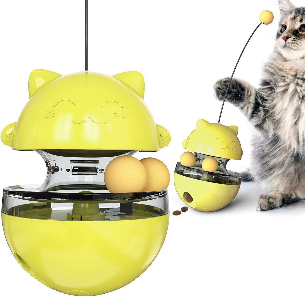 USWT Cat Toys Kitten Toy Cats Supplies Interactive Automatic No-Electronic Move for Indoor Cats with Ball