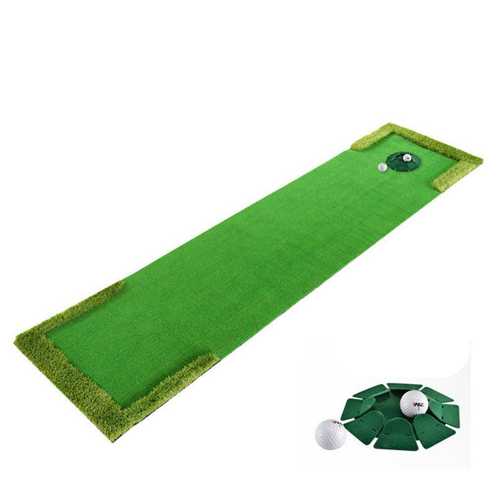 (1.9ft10ft)Golf Putting Mat,Indoor Golf Training Mat Putting Green System Professional Golf Practice Mat Green Long Challenging Putter