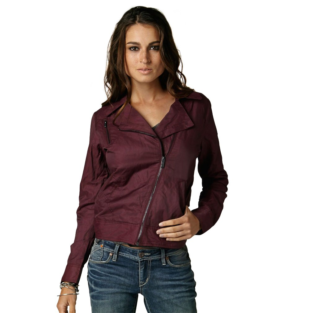 Fox Racing Women's Haze Bomber Jacket - Small/Bordeaux