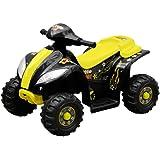 vidaXL Moto Elettrica Bambini Gialla Quad Elettrico Giocattolo Cavalcabile