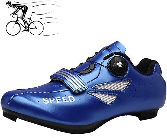 WangT Zapatillas De Ciclismo para Adultos Zapatillas De MTB Zapatillas De Bicicleta De Carretera Transpirables Zapatillas De Ciclismo De Montaña con Amortiguación Unisex,Blue-42EU: Amazon.es: Hogar