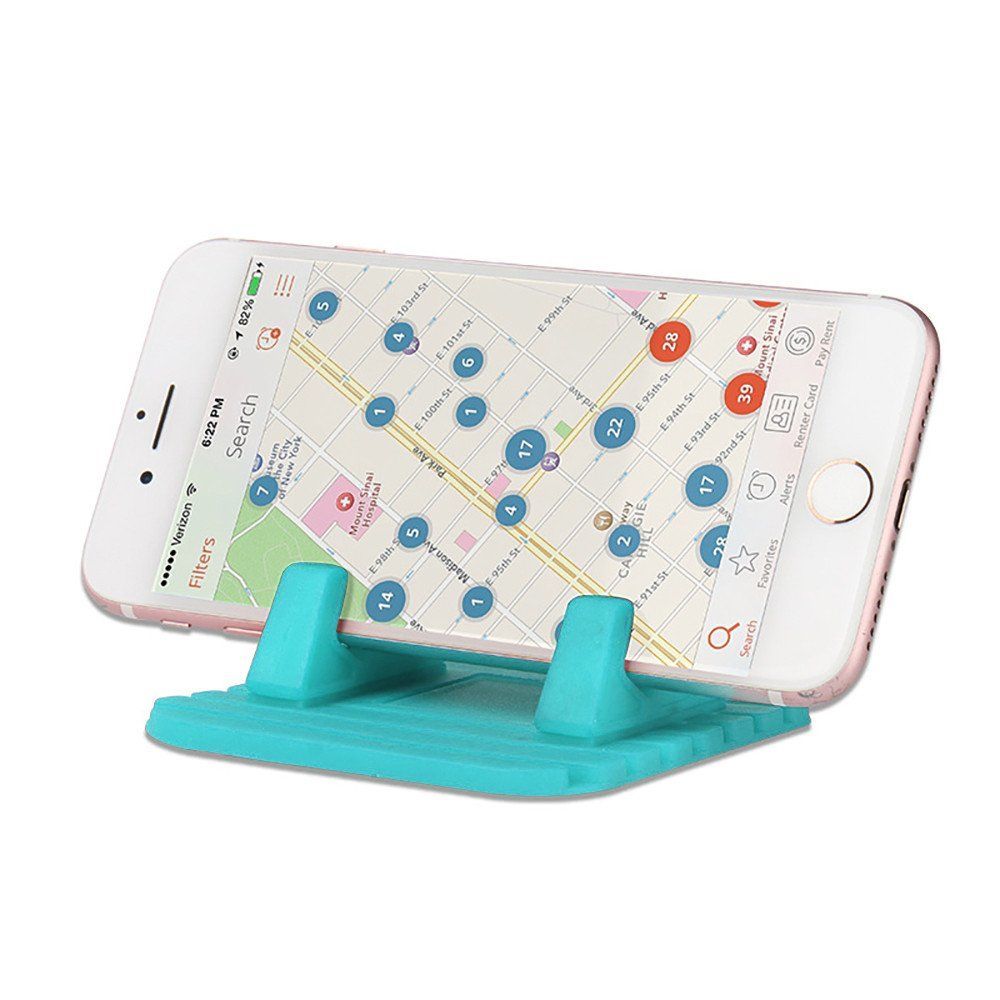 Orcbee  _Car Silicone Dash Pad Mat Anti-Slip Phone Bracket Desktop Holder for Smartphones (Mint Green) by 💗 Orcbee 💗 _Cell Phone Accessories (Image #3)