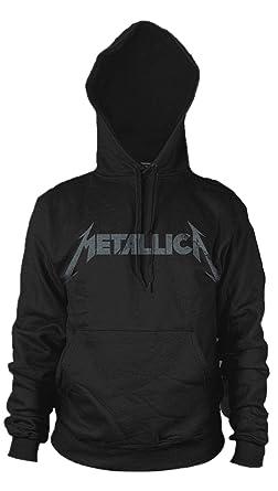 Metallica Kirk Hammett Guitar Black Album Oficial Sudaderas Capucha Hombre (Small)