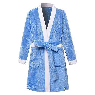JZLPIN Chicas Batas de Baño para niños Kimono Robes Franela Bata Chicos Ropa de Dormir: Amazon.es: Ropa y accesorios