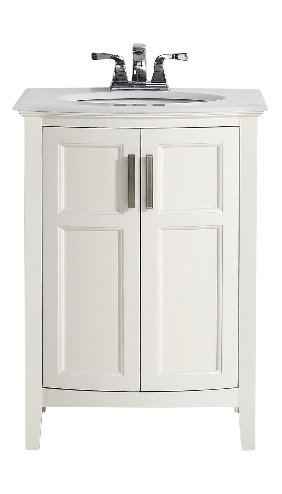 Simpli Home Winston 24'' Bath Vanity Rounded Front with Quartz Marble Top, Soft White by Simpli Home (Image #3)