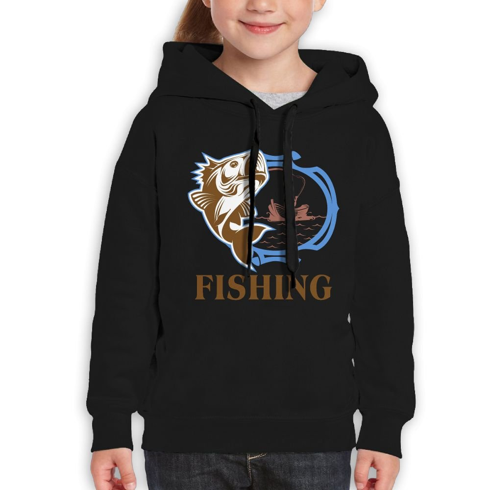 Summer Fishing Teens Cotton Long Sleeve Cute Sweatshirts Hoodies Unisex