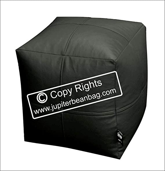 Zolo XXL Bean Bag Foot Stool Cube   Black   Cover Only