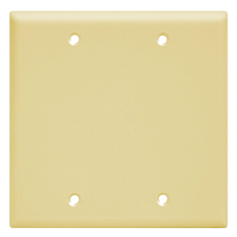 Enerlites Blank Device Wall Plate, Standard Size 2-Gang, Unbreakable ...