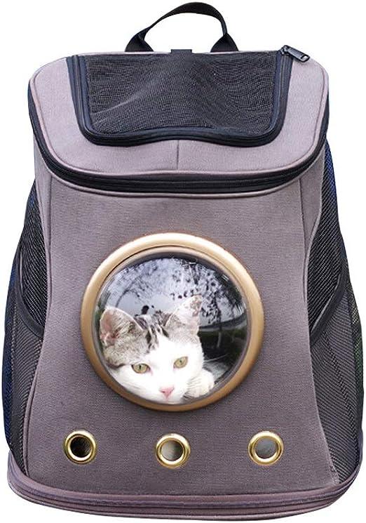 Akang Gato Mochila, Transportín para Gatos Y Perros, Mochila portadora de Mascotas, Cápsula Espacial Bubble Mochila Transparente para Gatos y Cachorros, diseñada para Viajes, Uso al Aire Libre: Amazon.es: Productos para mascotas