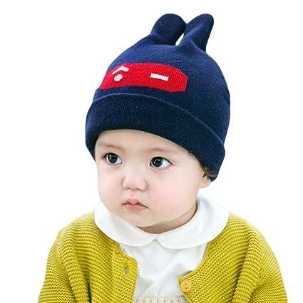 fd7fdfadfb6a WensLTD Trendy Winter Baby Beanie Hat Cap Warm Cute Kids Boys Girls Toddler  Knitted (Navy): Amazon.in: Home & Kitchen