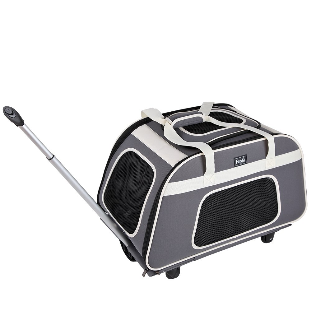 Petsfit Rolling Pet Carrier for Pets up to 28 Pounds, Not Airline Approved by Petsfit