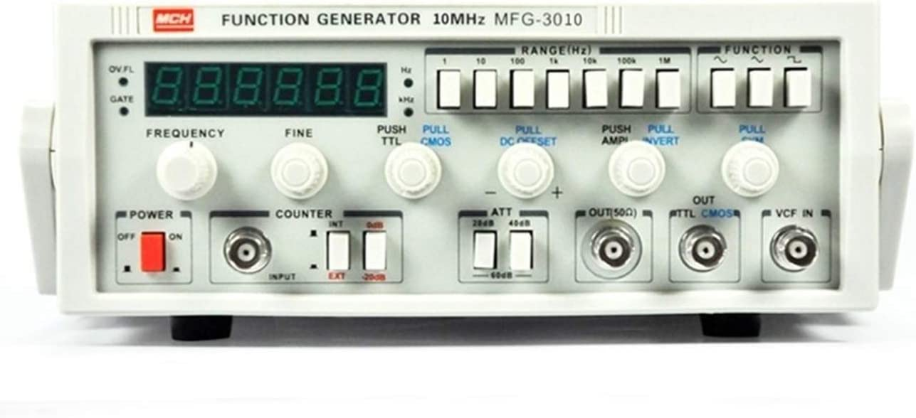 MFG-3010 Low-frequency Function Signal Generator 15MHz Signal Source 30M Frequency Meter Size : 110V