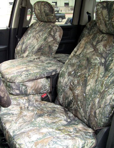 Durafit Seat Covers, 2009-2012 Ram 1500 & 2010-2012 2500-3500, 40/20/40 Front Cover Seat Set Only, Console Cover Included with Headrests, Camo.