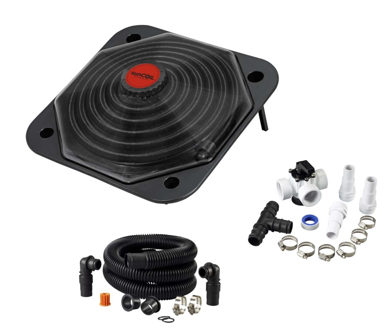sunCOIL - Solar Heater for Above Ground Pools with Free Diverter Valve Kit ($49.00 Value) by sunCOIL