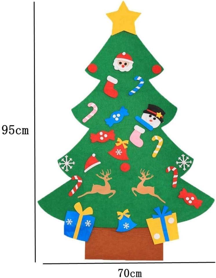 mu/ñeco de Nieve Cozywind DIY Arbol de Navidad de Fieltro con Banners Navidad Adornos Desmontables A/ño Nuevo Regalo para Ni/ños