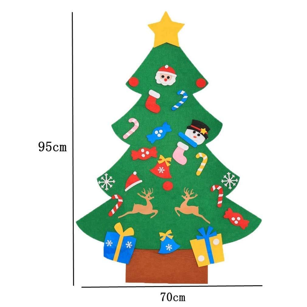 Cozywind DIY Arbol de Navidad de Fieltro con Banners Navidad Adornos Desmontables Año Regalo para Niños (muñeco de Nieve)