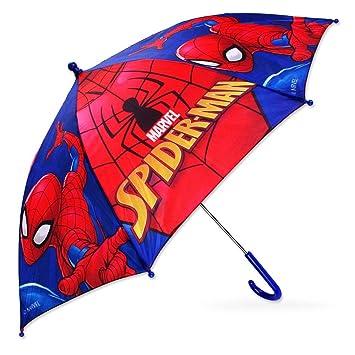 5535 Niños Niños paraguas Bastón pantalla Marvel Spiderman, Spiderman, 65 cm