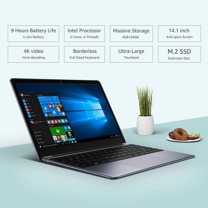 Amazon.com: CHUWI herobook 14.1 inch Windows 10 Intel Atom X5-E8000 Quad Core 4GB RAM 64GB ROM Notebook with Mini Portable HDMI,Thin and Lightweight ...