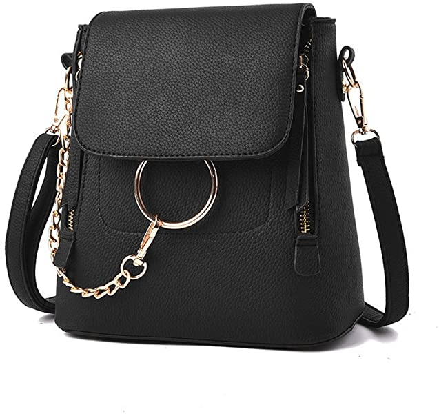 Amazon.com  Olyphy Designer Leather Chain Backpack for Women ...