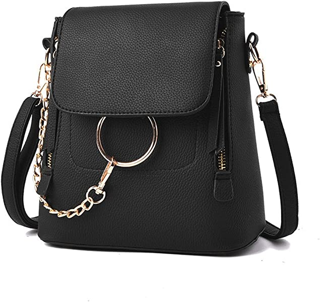 1f07e889e9e8 Amazon.com  Olyphy Designer Leather Chain Backpack for Women ...