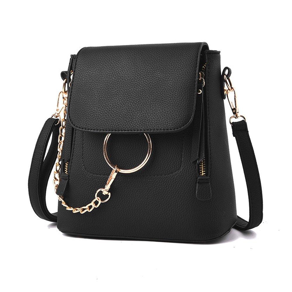 Olyphy Designer Leather Chain Backpack for Women, Fashion Shoulder Bag Backpack