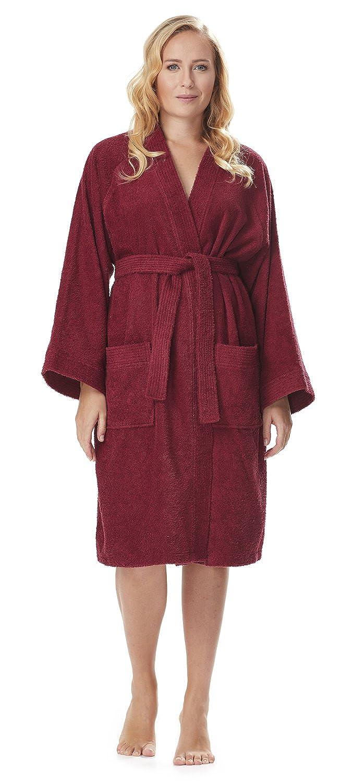 76d61a278e Arus Women s Short Kimono Lightweight Bathrobe Turkish Cotton Terry Cloth  Robe at Amazon Women s Clothing store  Bath Robe