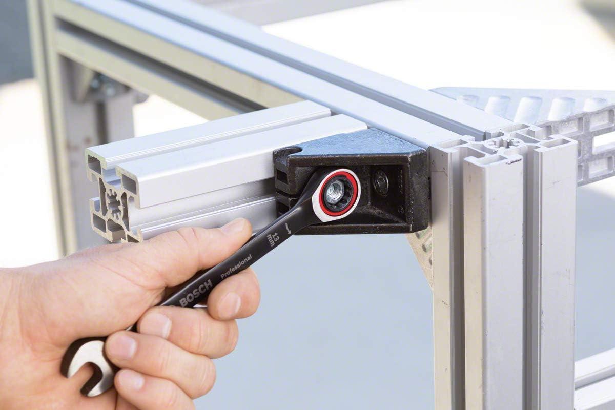cromo vanadio 13 mm Bosch Professional 1600A01TG7 Llave combinada con funci/ón de carraca