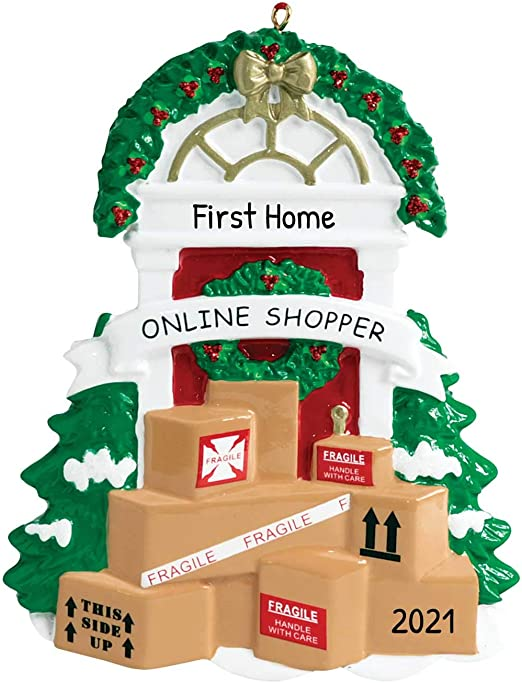 Christmas On Prime 2020 Amazon.com: Personalized Online Shopper Christmas Tree Ornament