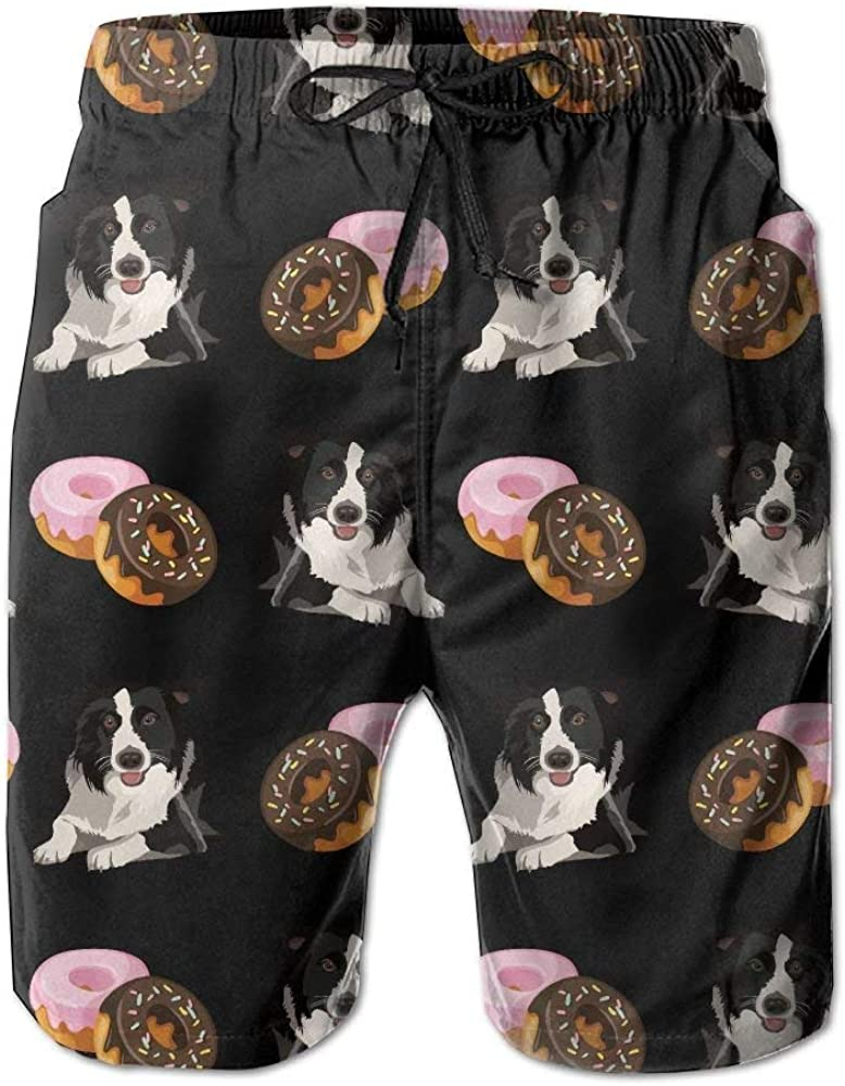 Dolores Marguerite Bape White Mens Beach Shorts with Pockets Quick Dry