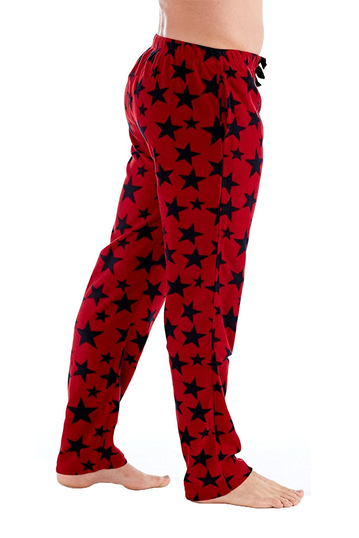 Mens Fleece Lounge Pants Soft Feel Pyjama Pants Comfortable Winter Warmer