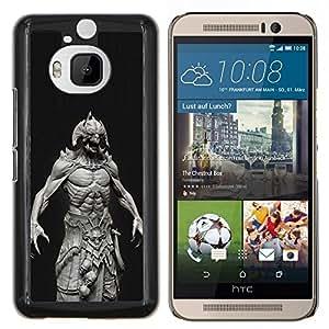 Dragon Case - FOR HTC One M9+ / M9 PLUS - monster Satan abs man demon black - Caja protectora de pl??stico duro de la cubierta Dise?¡Ào Slim Fit