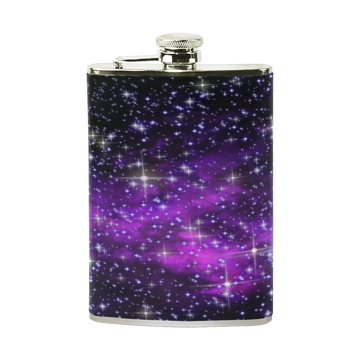 【超特価】 Alaza Galaxy 100 Nebulaヒップフラスコステンレススチール8オンスポケットショットのフラスコLiquor Whiskey VodkaラムPUレザーWrapped 100 Leak % Leak Proof % B075ZRRSVF, 伊根町:667145de --- a0267596.xsph.ru