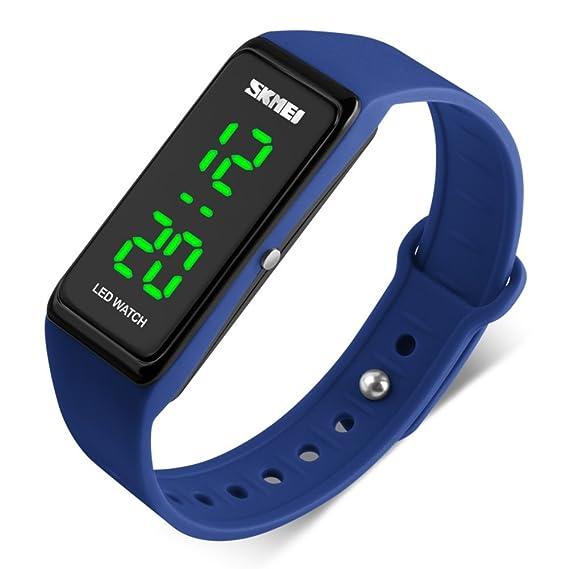 Reloj de pulsera,Reloj deportivo Relojes digitales Impermeable Pantalla lcd Aire libre Luz Reloj de