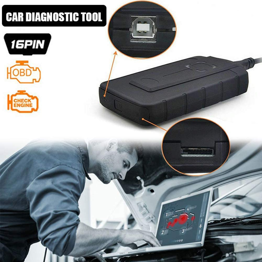 Instrument de Diagnostic de Voiture avec Outil de Diagnostic de Voiture Bluetooth OBD2 v5.008 r2 Ligne de Voiture de r/éparation de Voiture Cables DE Voiture
